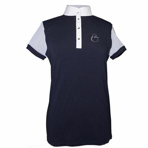 Equiline Sunny Competencia Espectáculo Camisa Manga Corta Azul Marino Talla L