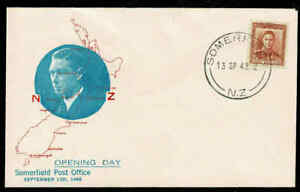 1948-NEW-ZEALAND-Opening-Day-Somerfield-PO-Cover