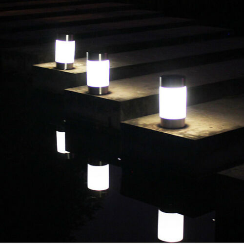 LED Solar Light Stainless Steel Lawn Lamp Garden Waterproof Decorative Light NEW
