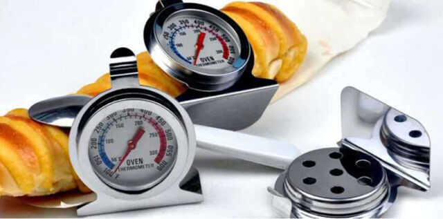 Oven Cooker Thermometer Temperature Gauge Stainless Steel 300ºC 600ºF Kitchen NT
