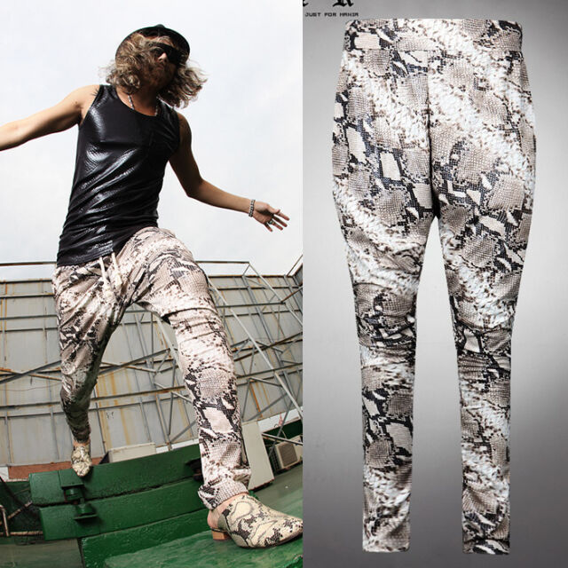 ByTheR Anaconda Baggy Pants Korean fashion Beige Size L Loose P0000MZA N