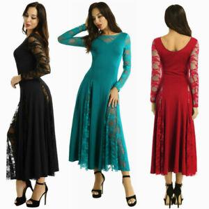 Women-Waltz-Modern-Dance-Tango-Dress-Prom-Ballroom-Dance-Dress-Lace-Long-Sleeves