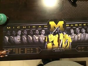 Details About 2010 11 Michigan Wolverines Basketball Schedule Poster