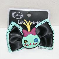 Disney Lilo & Stitch Scrump Rubber Ribbon Bow Tie Hair Clip Pin Costume Dress Up
