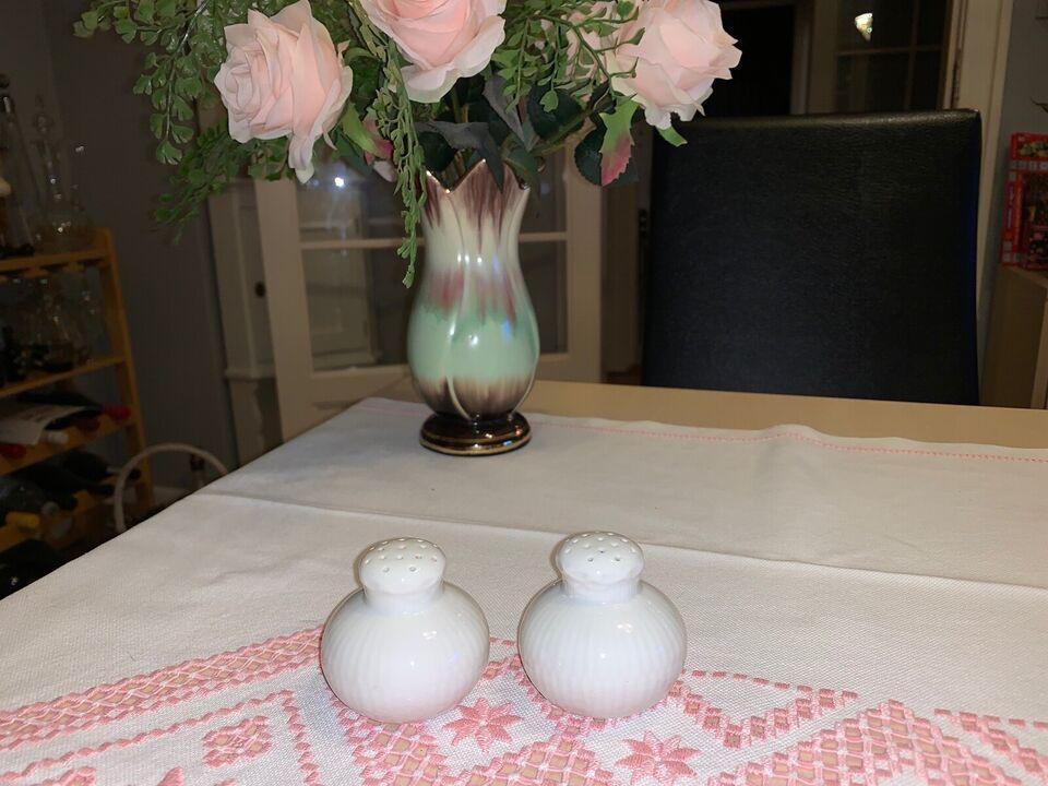 Porcelæn, SALT & PEBER, ROYAL COPENHAGEN HVID HALVBLONDE