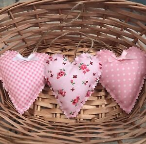 Incredible Details About Set Of 3 Shabby Chic Hanging Love Hearts Home Interior And Landscaping Ponolsignezvosmurscom