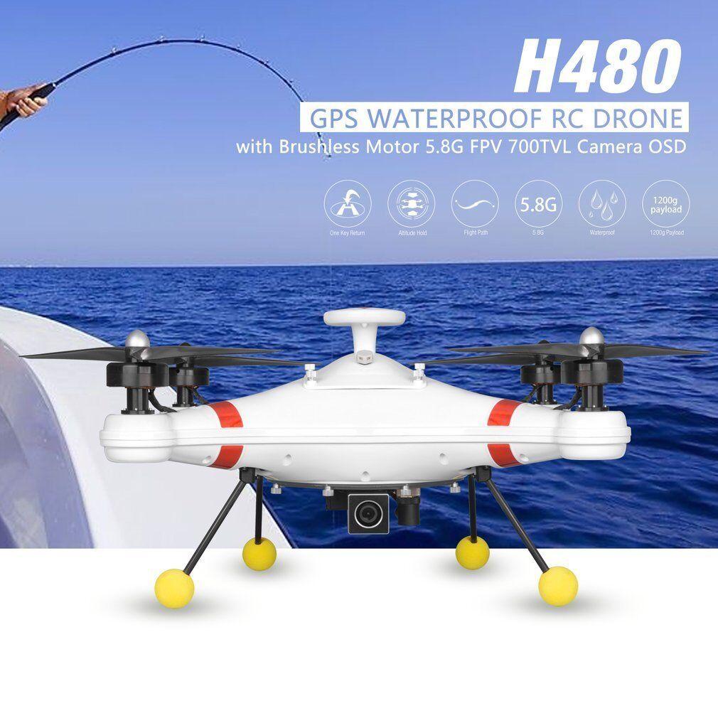 Poseidon - 480 BRUSHLESS 5.8g FPV 700tvl Fotocamera GPS Impermeabile RC Drone con OSD