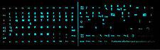 Adesivi lettere tastiera Italiano si illuminano al buio 102 tasti colore blu