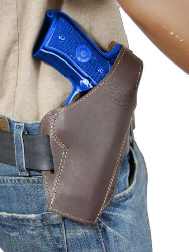 New Barsony Brown Leather Pancake Gun Holster for Ruger Star Full Size 9mm 40 45