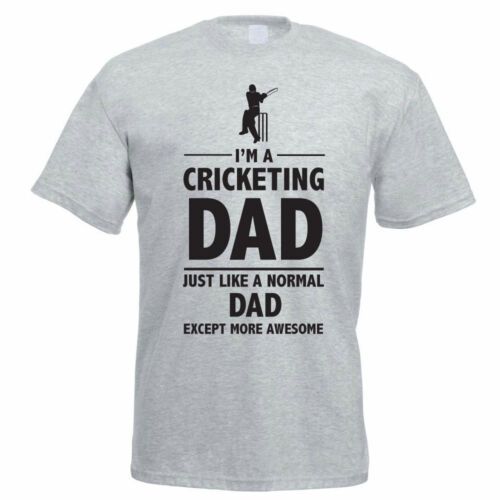 Daddy Fun Themed Mens T-Shirt Sport Father/'s Day I/'M A CRICKETING DAD