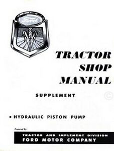 Ford-Hydraulic-Piston-Pump-For-600-700-800-900-Tractor-Service-Shop-Manual