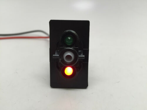 -OFF DPST 5-PIN 2 LED GREEN RED 20A 12V ON MARINE BOAT ANCHOR ROCKER SWITCH
