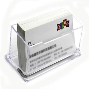Transparent-Acrylic-Plastic-Desk-Box-Desktop-Business-Card-Holder-Display-Stand