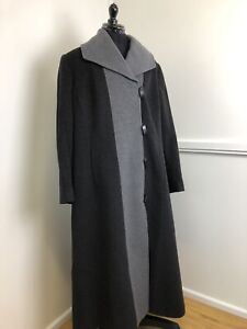 Windsmoor-Ladies-Winter-Coat-Full-Length-Wool-Cashmere-Blend-Charcoal-Grey-UK-18