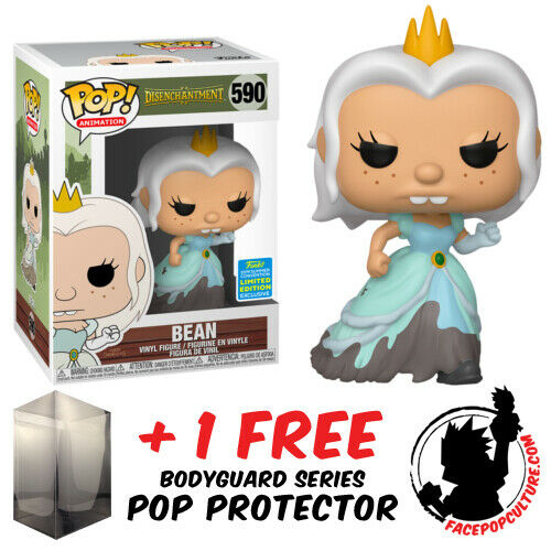 POP PROTECTOR FUNKO POP DISENCHANTMENT BEAN WEDDING DRESS SDCC 2019 EXCLUSIVE