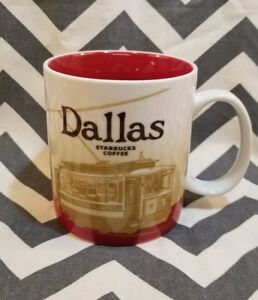 About Starbucks Collectors Details Global Series Red Cup Dallas Icon 2009 Coffee Mug City vm0w8nN