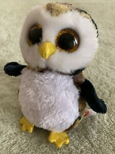 d838cb46070 Ty Owliver Brown Black Camouflage Beanie Boo Owl Plush Stuffed ...