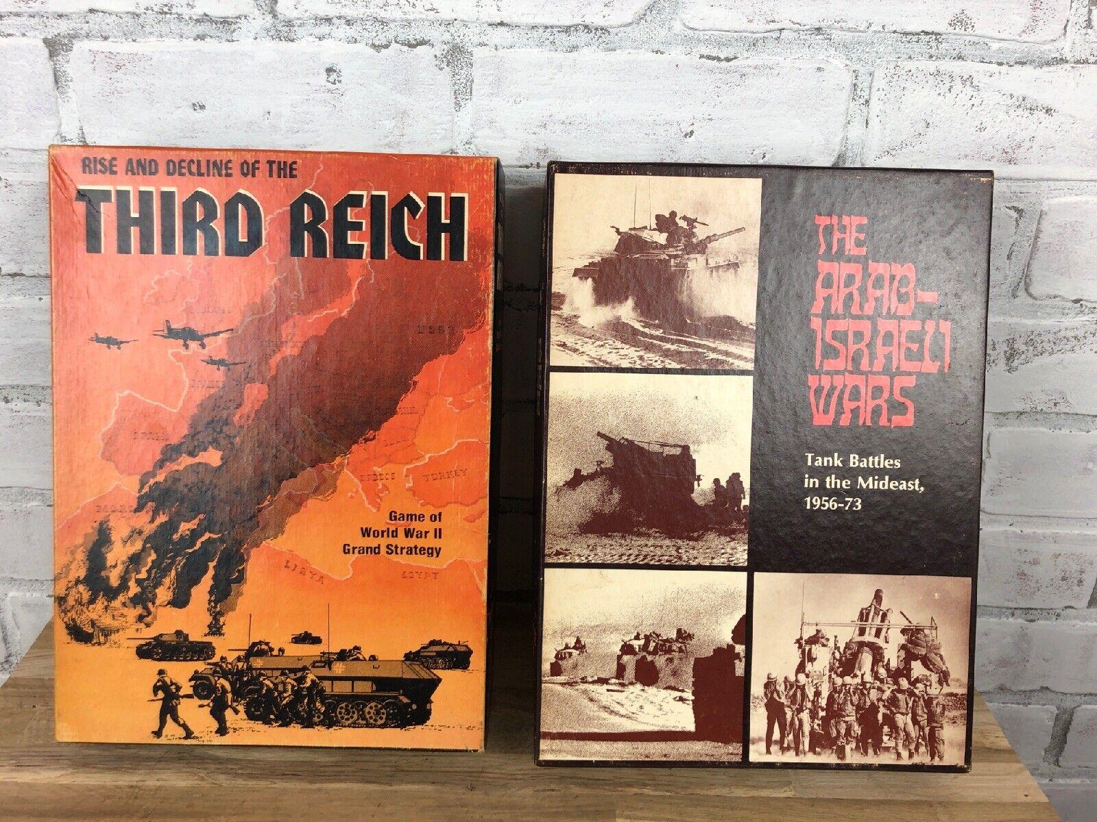 Vintage 1970s Avalon Hill Games Arab-Israeli Wars   Rise And Decline Third Reich