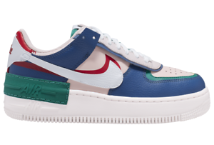 Details about Nike Women\u0027s Air Force 1 Low Shadow Blue Mystery Navy White  Pink Red CI0919,400