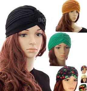 Caricamento dell immagine in corso Banda-Donna-Turbante-Cappello-Cap-Hijab -Headwear-Wrap- 1d40b45d44c4
