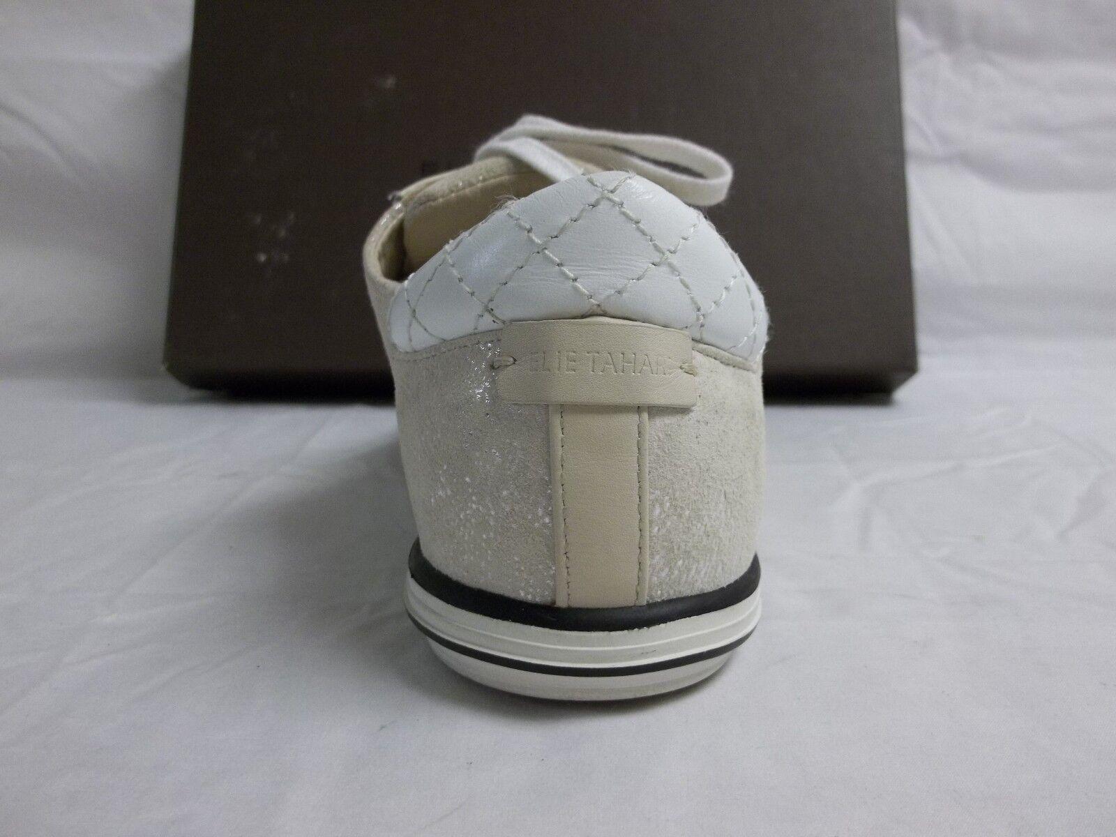 Elie Tahari Tahari Tahari EU 38 US 8 M Dream White Leather Fashion Sneakers New Womens shoes e145c0