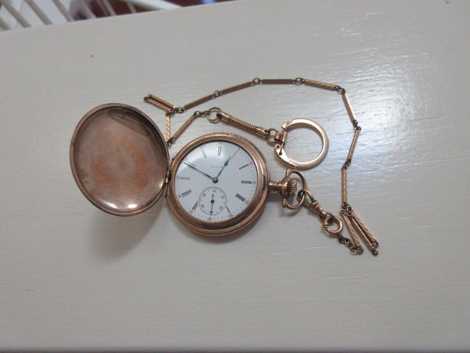 Elgin Pocket Watch , Philadelphia Watch Case Co. , Anti