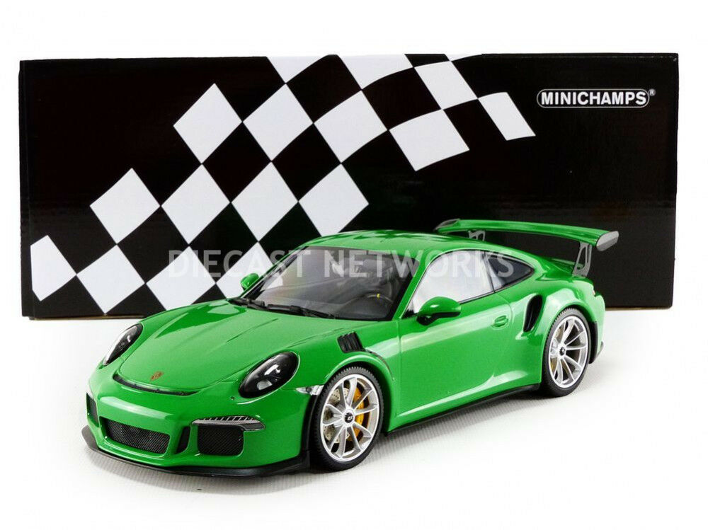 Minichamps 2015 Porsche 911 (991) GT3 Rs Viper verde 1 18 Scala le Of 222 Nuovo
