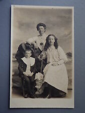 R&L Postcard: Edwardian Portrait of Mother & Children, Teenage Girl in Dress