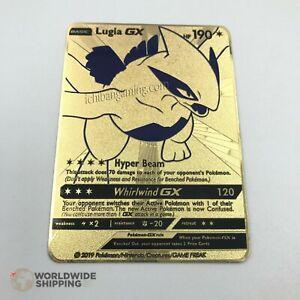 Carte-Pokemon-Metal-Gold-Lugia-GX-Card-Fan-Made-EX