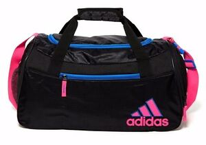 763e1649f2 Adidas Squad II Duffel Gym Bag Black Flash Red Ventilated New With ...