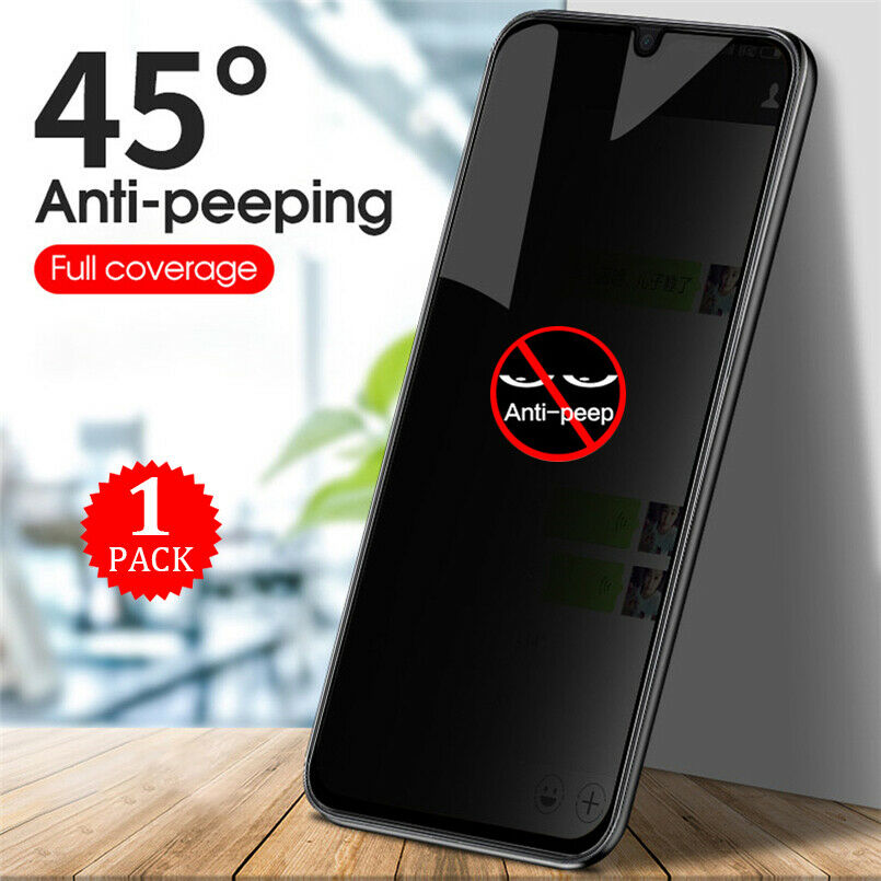 no Finger Unlock Function Galaxy S20 Ultra Privacy Screen Protector,HYAIZLZ 9H Hardness Tempered Glass Anti-Spy Screen Protector Shield for Samsung Galaxy S20 Ultra,Color Black