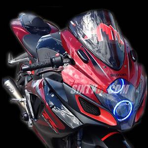 Details about Suzuki GSXR 600 750 2011-2018 2019 CCFL Demon Halo Angel Eyes  Kit lights rings