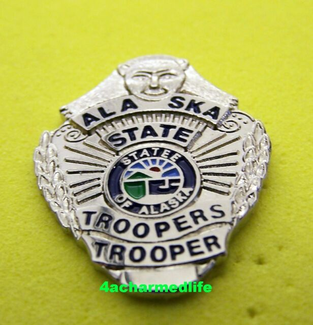 ALASKA  STATE  TROOPER POLICE  LAPEL BADGE PIN