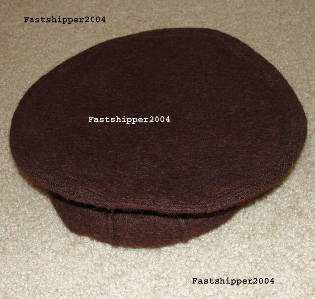 Afghanistan Pakol Hat 100% Wool Warn Winter Hat Great Dark Brown Army BERET TOPI