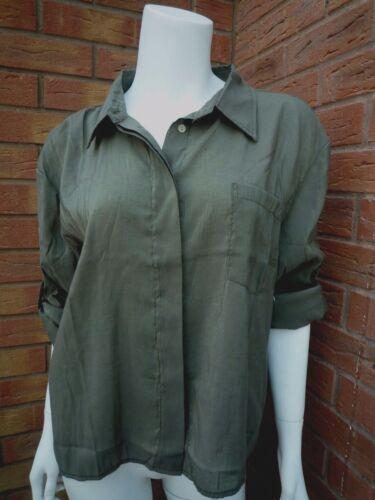 Denim Blouse amp; Size Shirt 14 M Uk12 Lauren Metallic Khaki Supply Ralph dXXxRqw4r