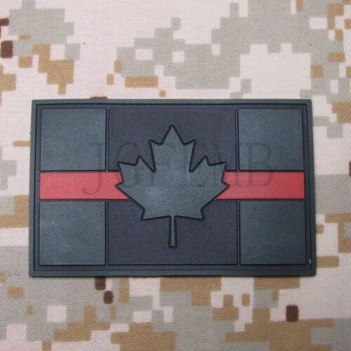 The thin Red line Canada Red Maple flag 3D PVC Patch