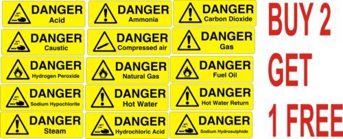 Segno di pericolo Adesivo Di Avvertimento Etichetta Attenzione ACQUA CALDA Acido Carburante Gas naturale a vapore