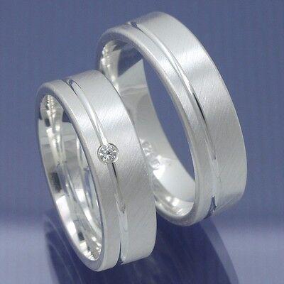 Silber Verlobungsringe Mit Kostenloser Innengravur Und Einem Zirkonia