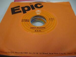 Rock-Unplayed-NM-45-R-E-O-Keep-Pushin-039-on-Epic