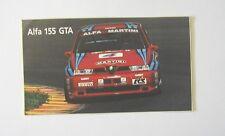 ADESIVO AUTO / Old Car Sticker _ ALFA ROMEO 155 GTA MARTINI NANNINI (cm 14 x 8)