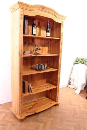 Schönes Landhaus Bücherregal Standregal Küchenregal Weichholz massiv Verzierunge