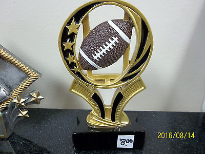 Etch Workz 6 Tall Football Trophy Sweeping Gold Stars Football Awards