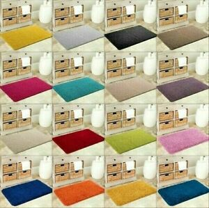 Details about NEW SOFT PLAIN SHAGGY MATS WASHABLE NON SLIP LARGE SMALL  BEDROOM RUGS RUNNERS