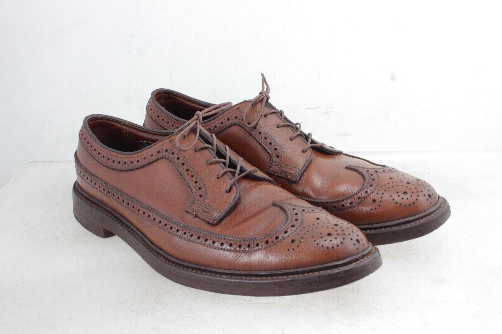 Florsheim Royal Imperial Pebble Grain 5 Nail V Cleat Dress shoes 9.5 B Vintage