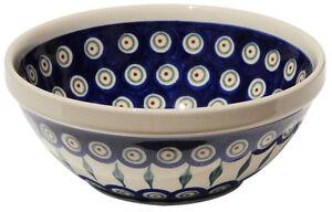 Polish Pottery Bowl 7 Inch Diameter from Zaklady Boleslawiec 849/56