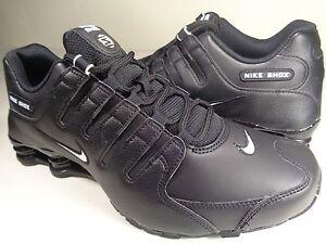 938f5655bf4f53 Image is loading Nike-Shox-NZ-EU-Black-White-SZ-10-