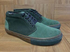 RARE-VANS-Marc-Jacobs-Green-Corduroy-Gum-Chukka-Ankle-Sneakers-10-Men-039-s-Shoes