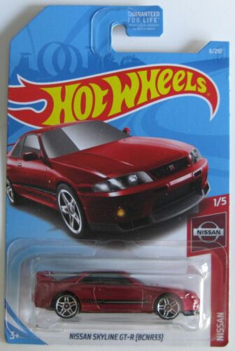 Hot Wheels 2018 Nissan series NISSAN SKYLINE GT-R R33 1//5 metallic red