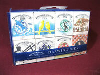 Winsor & Newton Drawing Inks 8pk. (14 Ml. Each) Colors, Use With Brush Or Pen.