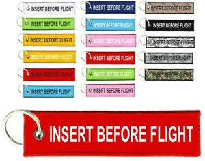 Keychain-Key-ring-keyring-insert-before-flight-remove-tag-cabin-aircraft-biker
